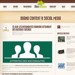 Ce que les internautes français attendent des réseaux sociaux