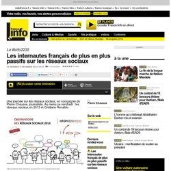 Les internautes français de plus en plus passifs sur les réseaux sociaux
