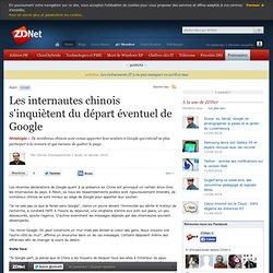 Les internautes chinois s'inquiètent du départ éventuel de Googl