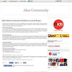 Quels contenus les internautes attendent sur un site de Marque
