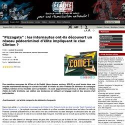 """""""Pizzagate"""" : les internautes ont-ils découvert un réseau pédocriminel d'élite impliquant le clan Clinton"""