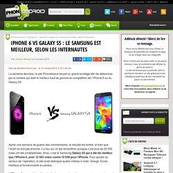 iPhone 6 VS Galaxy S5 : le Samsung est meilleur, selon les internautes