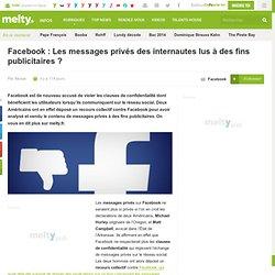 Facebook : Les messages privés des internautes lus à des fins publicitaires ?