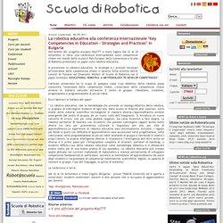 "Scuola di Robotica - La robotica educativa alla conferenza internazionale ""Key Competencies in Education – Strategies and Practices"" in Bulgaria"