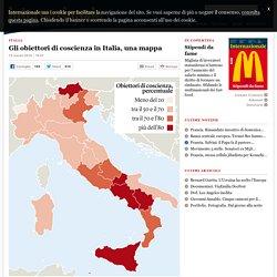 Gli obiettori di coscienza in Italia, una mappa