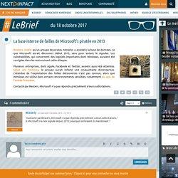 La base interne de failles de Microsoft's piratée en 2013