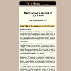 Modèle interne opérant et psychisme