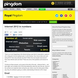 Internet 2012 in numbers