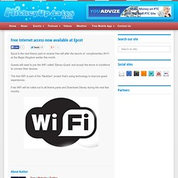 Free Internet access now available at Epcot