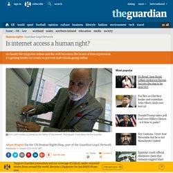 Is internet access a human right?