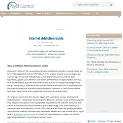 Internet Addiction and Online Addiction