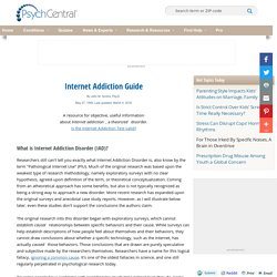 Internet Addiction and Online Addiction