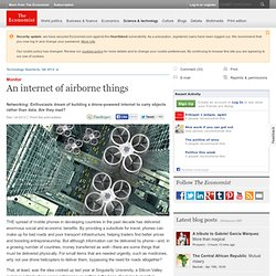 Monitor: An internet of airborne things