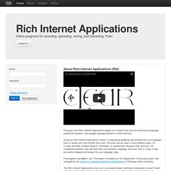Rich Internet Applications from the Center for Language Education And Research (CLEAR) at Michigan State University