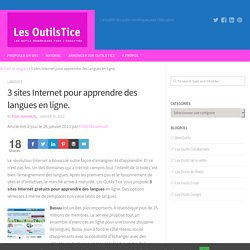3 sites Internet pour apprendre des langues en ligne
