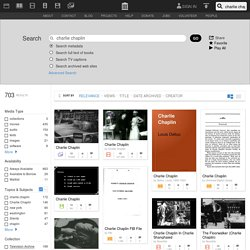 Internet Archive Search: charlie chaplin