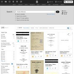 Internet Archive Search: étude littéraire