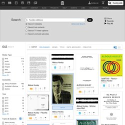 Internet Archive Search: huxley aldous