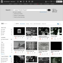 """Internet Archive Search: subject:""""Charlie Chaplin"""""""