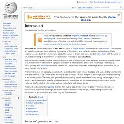 Internet art - Wikipedia