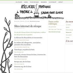 Sites internet de récupe - Ateliers d'écologie pratique