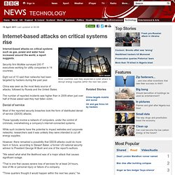 Internet-based attacks on critical systems rise