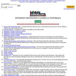 Internet Beginner's Guides Tutorials refdesk