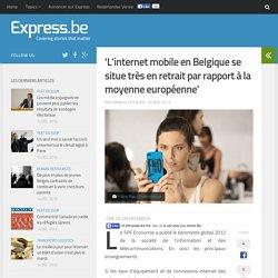 'L'internet mobile en Belgique 2012