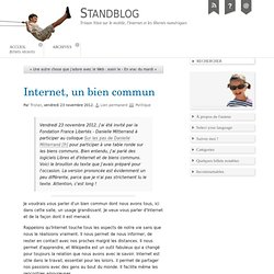 Internet, un bien commun