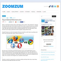 Top 10 Internet Browsers 2011