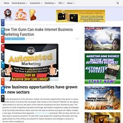 How Tim Gunn Can make Internet Business Marketing Function