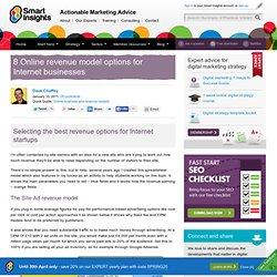 8 Online revenue model options for Internet businesses