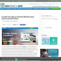 El editor de vídeo en Internet WeVideo lanza nuevas características