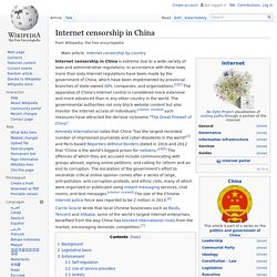 Internet censorship in China