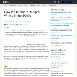 How the Internet Changed Writing in the 2000s