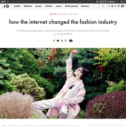 how the internet changed the fashion industry
