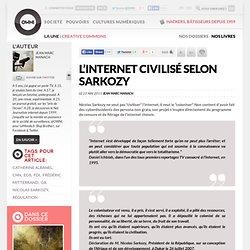 L'Internet civilisé selon Sarkozy