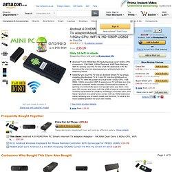 Android 4.0 HDMI Mini PC Smart internet TV adaptor/Adaptor - RK3066 Dual Core 1.6Ghz CPU, WiFi N, HD 1080P UG802: Amazon.co.uk: Computers