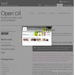 Page d'accueil d'un site internet - conception création