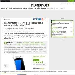[MàJ] Internet: 75% des connexions seront mobiles dès 2017