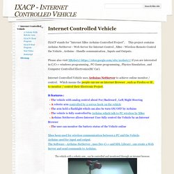 IXACP - Internet Controlled Vehicle