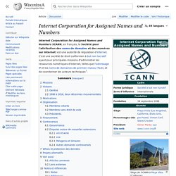 Internet Corporation for Assigned Names and Numbers