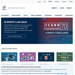 ICANN | Internet Corporation for Assigned Names and Numbers