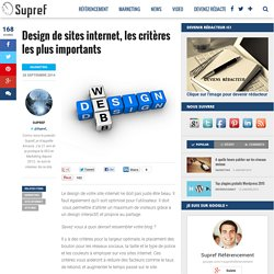 Design de sites internet, les critères les plus importants