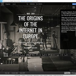 Les origines de l'Internet en Europe - Google Cultural Institute