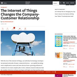 The Internet of Things Changes the Company-Customer Relationship