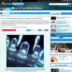 Li-Fi : l'Internet haut débit par la lumière arrive en 2016