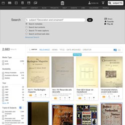 """Internet Archive Search: subject:""""Decoration and ornament"""""""