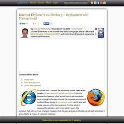 Internet Explorer 8 vs. Firefox 3 – Deployment and Management