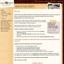 Internet Detective - online tutorial critical thinking website evaluation
